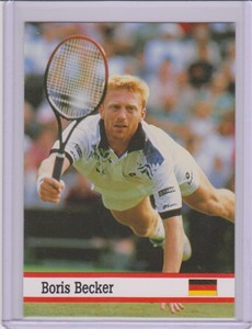 Boris Becker 1993 Fax-Pax tennis card
