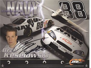 Brad Keselowski autographed NASCAR photo card