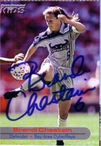 Brandi Chastain autographed WUSA San Jose CyberRays card