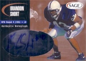 Brandon Short Penn State certified autograph 2000 Sage card