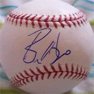 Bronson Arroyo autographed MLB baseball