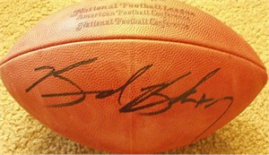 Brad Banks autographed NFL game football