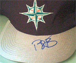 Bret Boone autographed Seattle Mariners alternate cap or hat