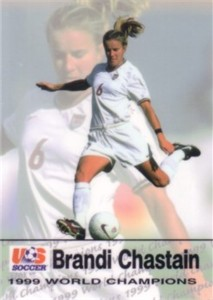 Brandi Chastain 1999 U.S. Women's National Team Roox soccer card