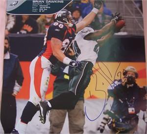 Brian Dawkins autographed Philadelphia Eagles calendar page