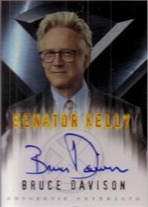 Bruce Davison X-Men certified autograph Senator Kelly Topps card