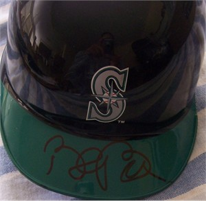 Bret Boone autographed Seattle Mariners mini batting helmet