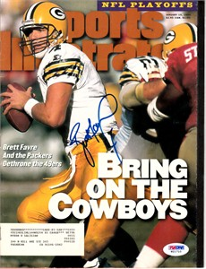 Brett Favre autographed Green Bay Packers 1996 Sports Illustrated (PSA/DNA)