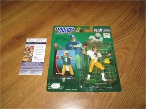 Brett Favre dual autographed Green Bay Packers 1998 Kenner Starting Lineup action figure JSA