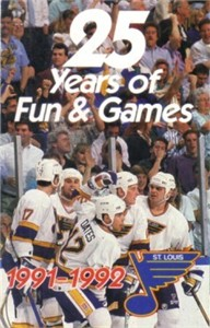Brett Hull & Adam Oates 1991-92 St. Louis Blues schedule