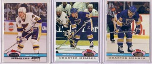 Brett Hull Blues 1991-92 Stadium Club Charter Member & Members Only set (3)