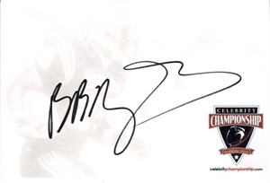 Brian Baumgartner autographed 4x6 signature card
