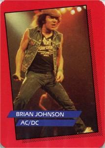 Brian Johnson AC/DC 1985 Rockstar Concert Card