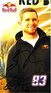 Brian Vickers autographed Red Bull Racing NASCAR photo card