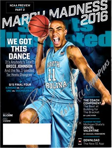 Brice Johnson autographed North Carolina 2016 Sports Illustrated inscribed ACC Champions