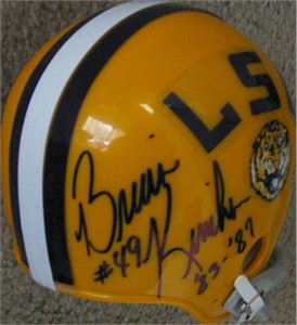 Brian Kinchen autographed LSU throwback mini helmet