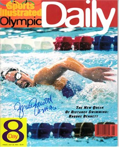 Brooke Bennett autographed 1996 Sports Illustrated Olympic Daily magazine