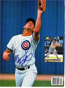 Brooks Kieschnick autographed Chicago Cubs Beckett magazine back cover photo