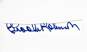 Brooks Robinson autograph or cut signature mounted on 3x5 index card