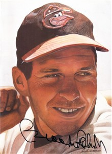 Brooks Robinson autographed Baltimore Orioles art print