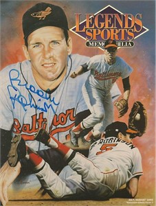 Brooks Robinson autographed Baltimore Orioles 1993 Legends magazine