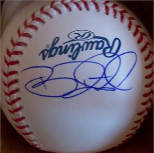Brian Roberts autographed MLB baseball