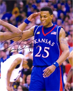 Brandon Rush autographed Kansas Jayhawks 2008 Final Four 8x10 photo