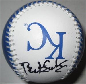 Bret Saberhagen autographed Kansas City Royals baseball