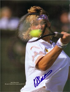Brenda Schultz autographed full page tennis magazine photo