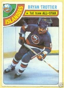 Bryan Trottier Islanders 1978-79 Topps card #10 VG
