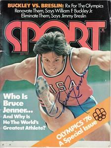 Bruce Jenner autographed 1976 Olympics Sport magazine