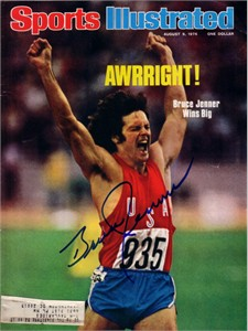 Bruce Jenner autographed 1976 Olympic decathlon gold medal Sports Illustrated