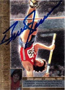 Bruce Jenner autographed U.S. Olympic 1996 Upper Deck card