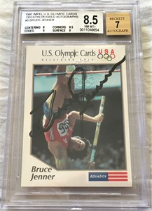 Bruce Jenner certified autograph U.S. Olympic card