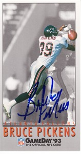 Bruce Pickens autographed Atlanta Falcons 1993 NFL GameDay card