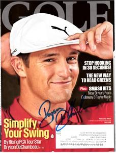 Bryson DeChambeau autographed 2017 Golf magazine cover