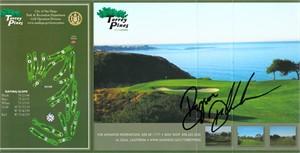 Bryson DeChambeau autographed Torrey Pines golf scorecard