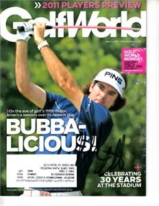 Bubba Watson autographed 2011 Golfweek magazine