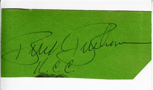 Buck Buchanan autograph or cut signature mounted on 3x5 card
