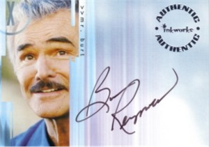 Burt Reynolds certified autograph X-Files card