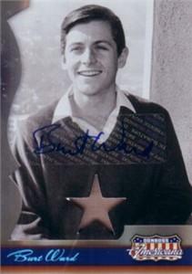 Burt Ward certified autograph Donruss Americana card with worn shirt swatch