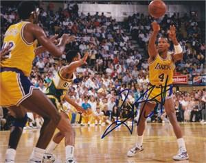 Byron Scott autographed Los Angeles Lakers 8x10 photo