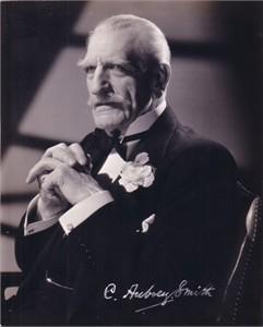 C. Aubrey Smith original 1940s publicity photo with facsimile autograph