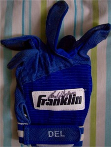 Carlos Delgado autographed Toronto Blue Jays game worn Franklin batting glove