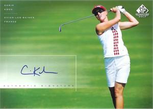 Carin Koch LPGA certified autograph 2004 SP Signature 8x10 photo card