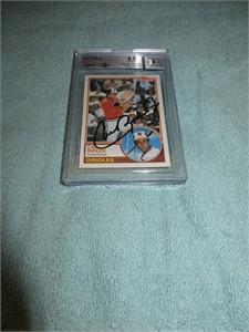 Cal Ripken autographed Baltimore Orioles 1983 Topps card graded BGS 8.5 (JSA)