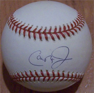 Cal Ripken autographed MLB baseball