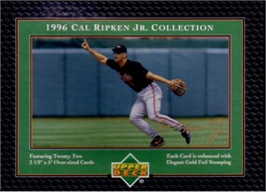 Cal Ripken Collection 1996 Upper Deck 22 card oversized boxed set