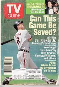 Cal Ripken Baltimore Orioles 1995 TV Guide magazine
