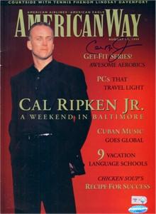 Cal Ripken autographed 1999 American Way magazine